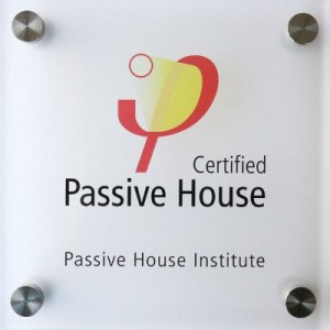 Passivhaus Plaque Square on